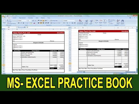Exercise 53 Excel Practice Book How To Make Computerized Invoice - how to make an invoice on excel