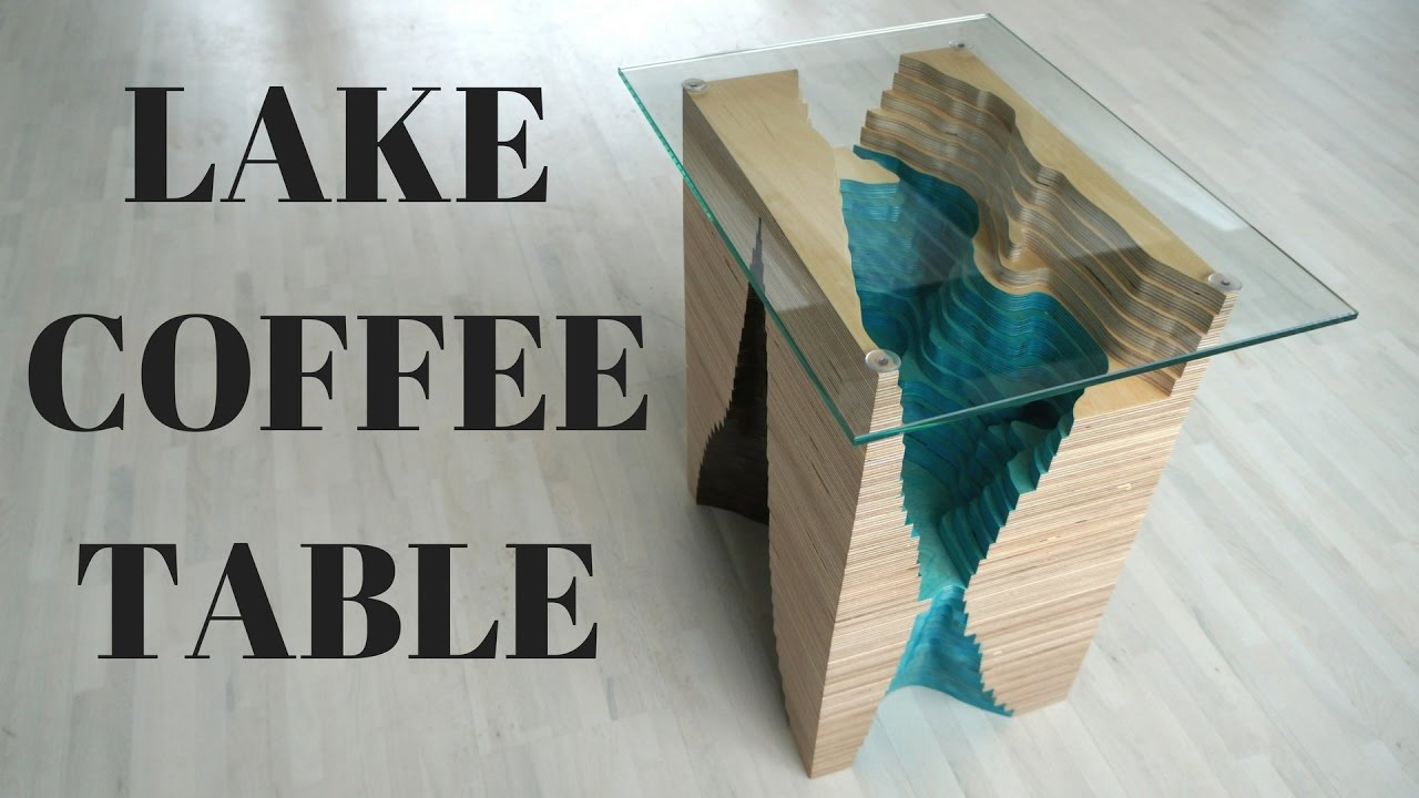 STRATA Lake Coffee Table Used Packing Plywood YouTube - Topographic coffee table