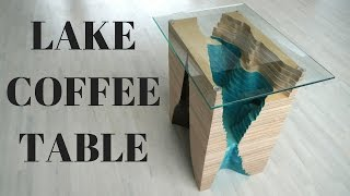 """STRATA"" lake Coffee Table (Used packing plywood)"