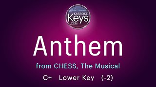 Anthem.  C+  from CHESS, the Musical  (karaoke piano) WITH LYRICS