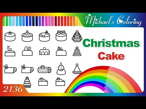 Lets Drawing And Coloring Christmas Cake Art Color For Kids