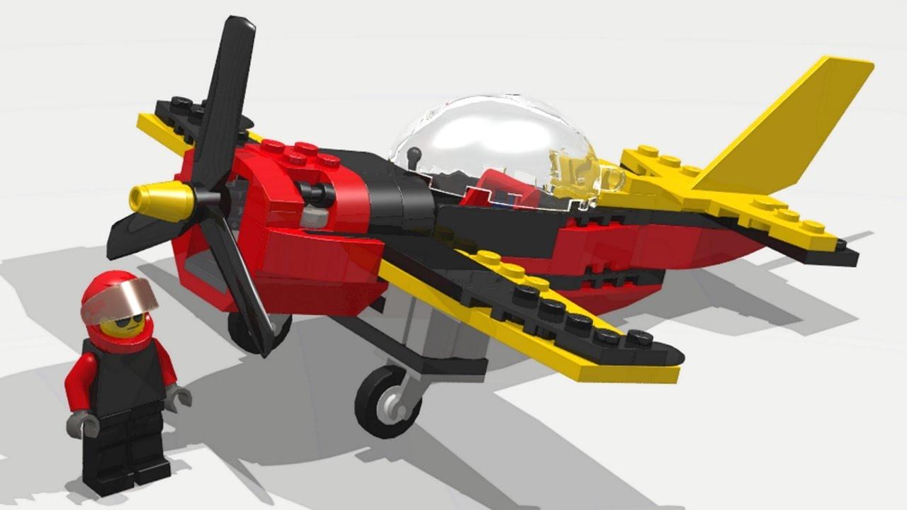 LEGO City 60144 Race Plane. Speed build / Instruction ...