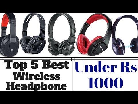 Top 5 Best Wireless Bluetooth Headphones Under Rs 1000 In 2018.