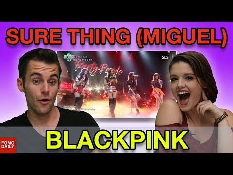 """BLACKPINK """"SURE THING"""" Miguel Cover • Fomo Daily Reacts"""