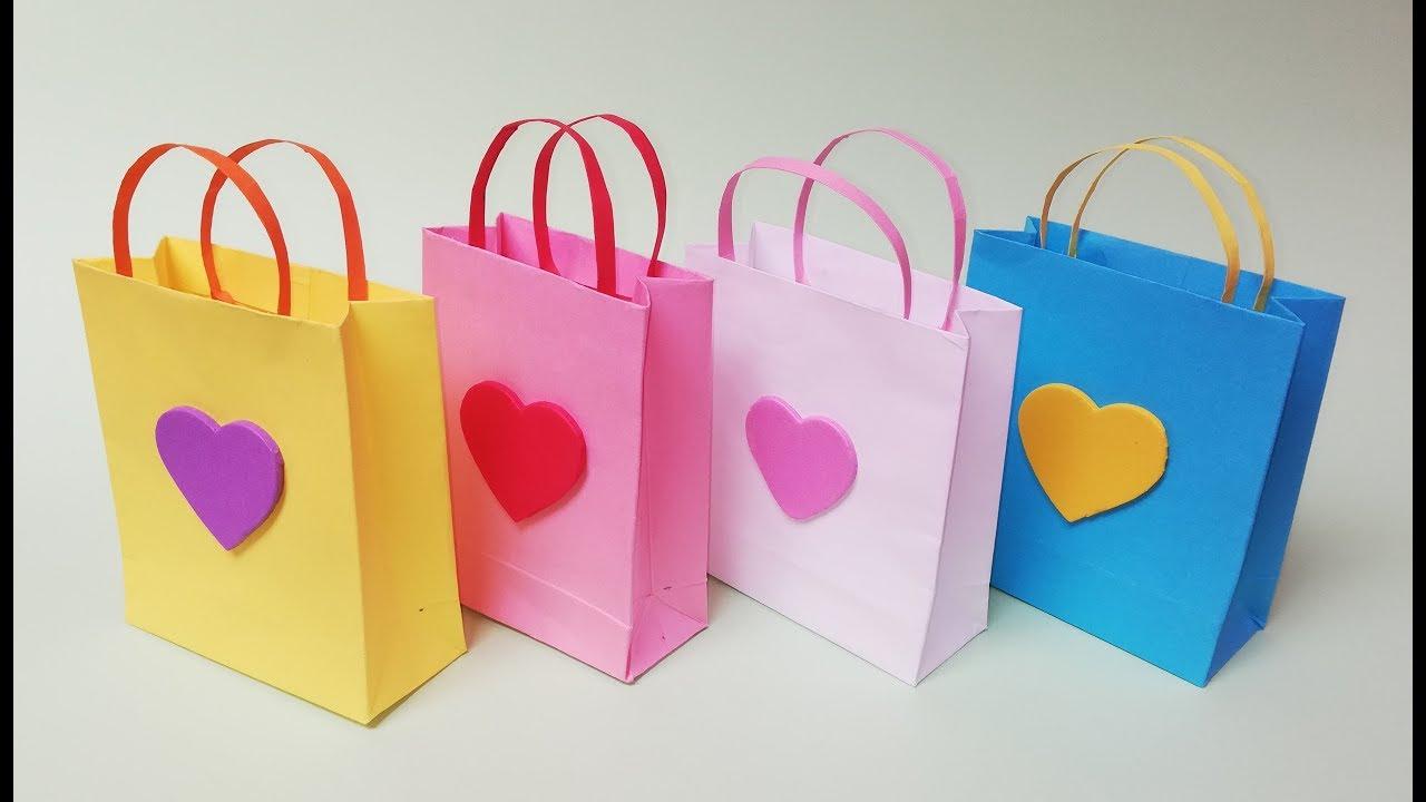 04b43d1d8 Como hacer bolsas de papel para regalo. Muy facil - YouTube