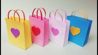Como hacer bolsas de papel para regalo. Muy facil