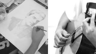 Baixar John Mayer time lapse portrait painting minimalism heart of life