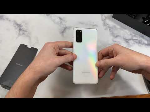 Samsung Galaxy S20 Cloud White Unboxing