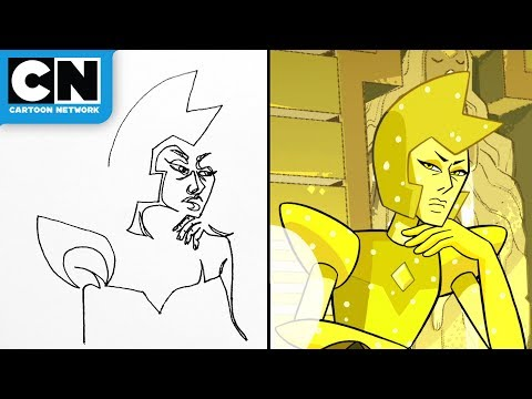 Steven Universe | Yellow Diamond Contour Drawing | Cartoon Network | LET'S CREATE