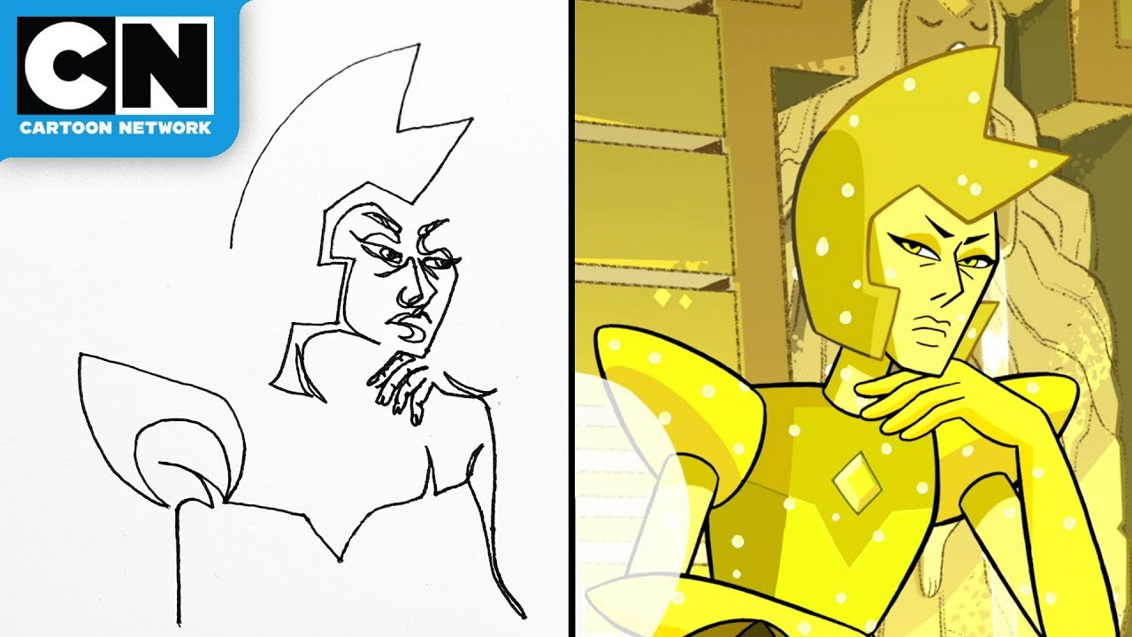 Steven Universe | Yellow Diamond Contour Drawing | Cartoon Network | LET'S CREATE