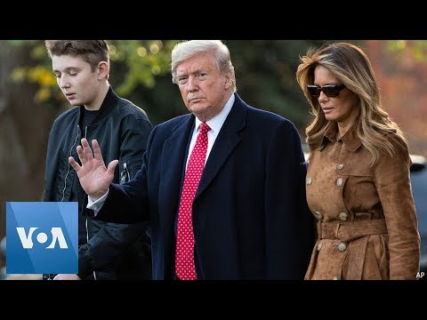 President Donald Trump, First Lady Head to Florida for Thanksgiving