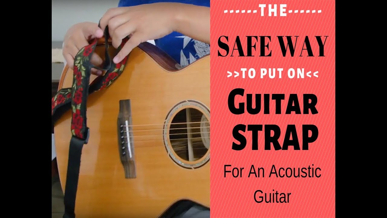 How To Attach A Guitar Strap To Acoustic Guitars Without Risk Your Guitar W Special Locks Youtube