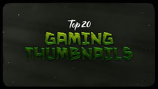 Top 20 Gaming Thumbnail Template