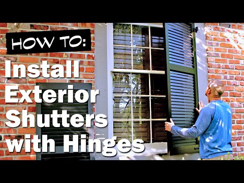How to Install Exterior Shutters (Functional)