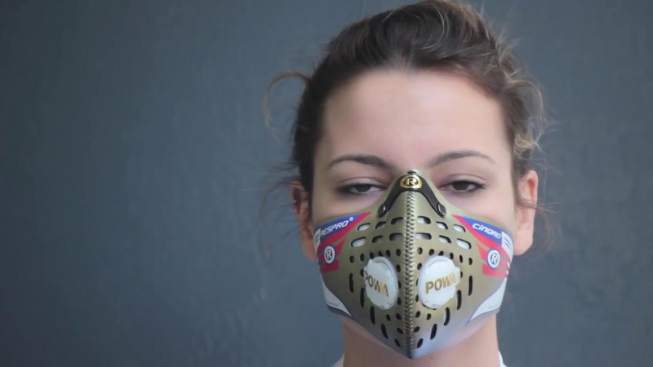 bien porter son masque anti pollution cinqro respro youtube. Black Bedroom Furniture Sets. Home Design Ideas
