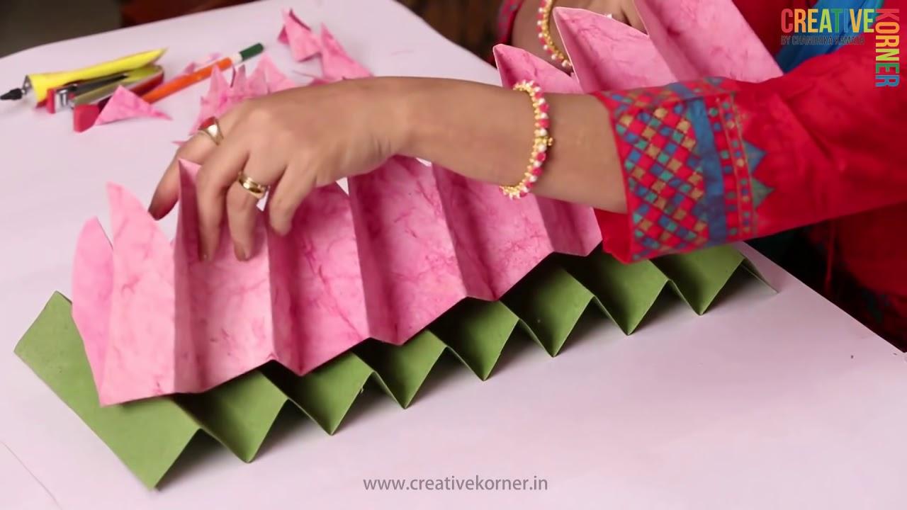 Eco Friendly Ganpati Decoration Lotus Asan Youtube