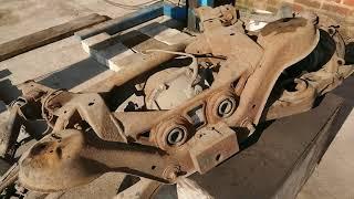 Ремонт подвески, пескоструй и Антикор днища на паджеро 3