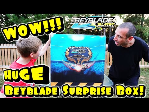 MUST SEE! We Got A HUGE BOX Of BEYBLADE BURST Evolution Toys From Hasbro! So Many Beyblades!