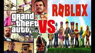 GTA 5 VS ROBLOX l What's Difference With GTA 5 and Roblox? l The Great Min