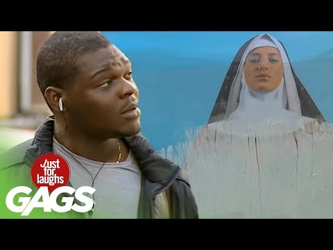 Sexy Nun Poster Prank – Just For Laughs Gags