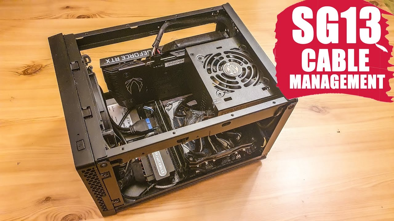 Download Optimize cable management in SG13 Silverstone M-ITX case Part 4