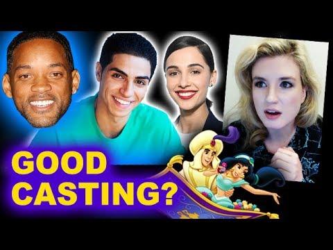 Aladdin Live Action CAST - Mena Massoud, Naomi Scott, Will Smith