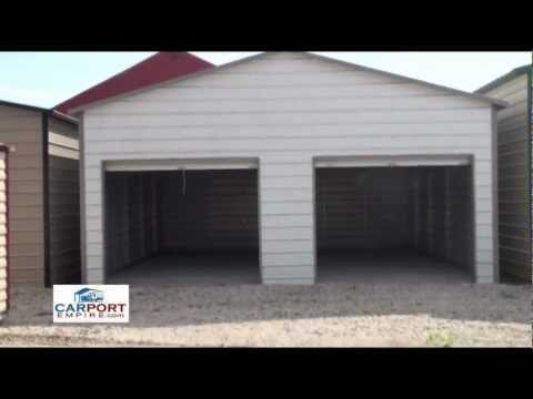 Steel Buildings - 24' x 26' Steel Garage Building By Carport Empire