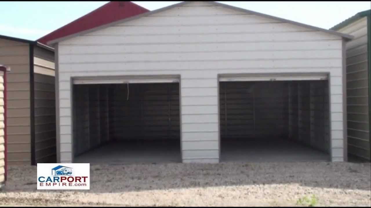 Steel buildings 24 39 x 26 39 steel garage building by 3 car metal garage kits