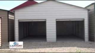 Steel Buildings - 24' X 26' Steel Garage Building By Carport Empire