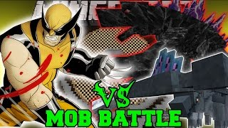 WOLVERINE VS HAMMERHEAD & MOBZILLA - Minecraft Mob Battles - Superheros Unlimited Mods