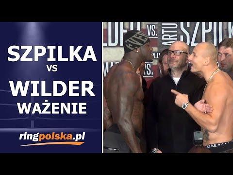 Szpilka - Wilder: Oficjalne ważenie / Official weigh-In
