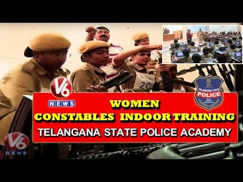 Women Constables Indoor Training At Telangana State Police Academy   Ground Report   V6 News