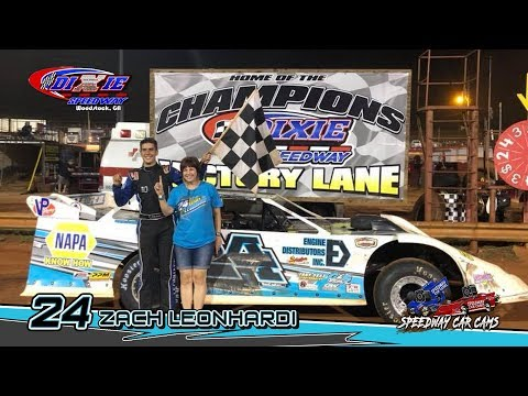 Winner - #24 Zach Leonhardi - Super Late Model - 9-1-18 Dixie Speedway - In Car Camera