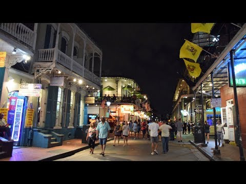 New Orleans French Quarter Tour & Bourbon Street at Night vs Day (HD)