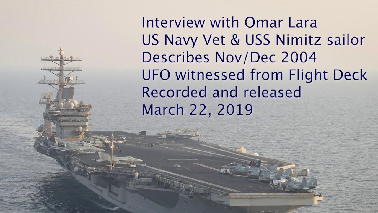 USS Nimitz sailor UFO Reported Nov 04 Omar Lara witness