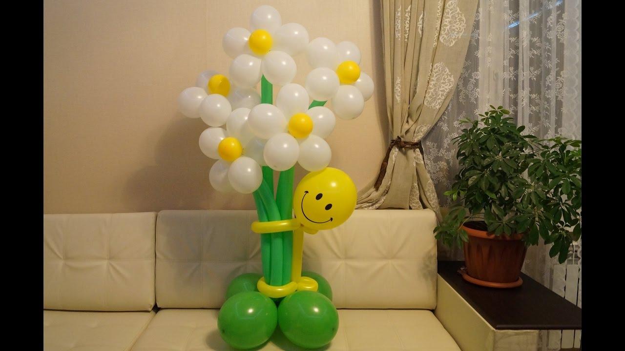 Как сделать букет цветов и шаров