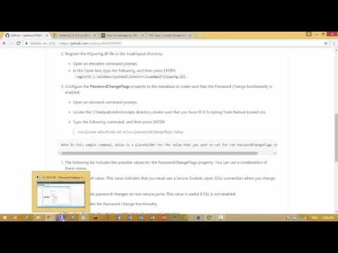 IISADMPWD domain users manage user password via IIS web portal