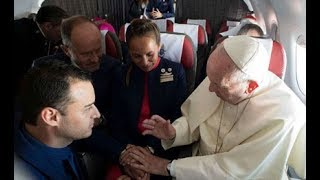 Love in the air: Pope marries couple on plane
