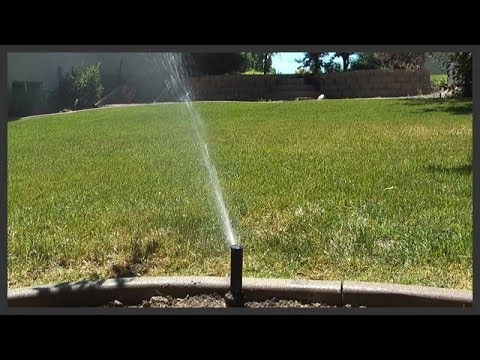 How To Turn On The Lawn Sprinkler System Youtube