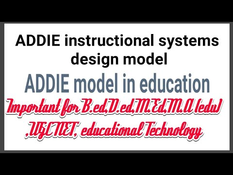 Addie Instructional Systems Design Model Educational Technology Phases Of Addie Model Youtube