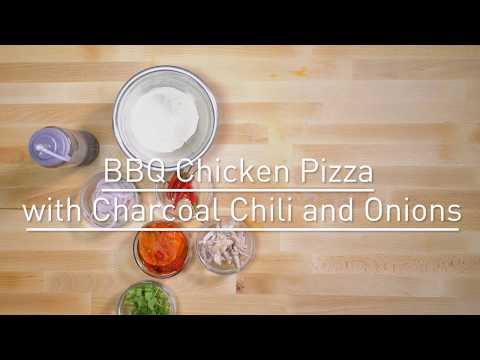 BBQ Chicken Pizza With Charcoal Chilli and Onions Recipe