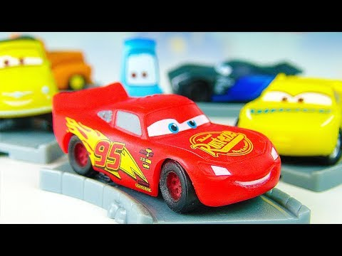 Lightning McQueen Learn colors with Cars 3 Disney Surprise Color toys  for children Video for kids,