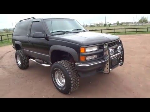 RARE 1997 Chevrolet 2 Door Tahoe Sport 4x4 Lifted Low Miles For Sale
