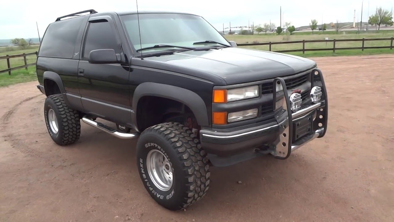 rare 1997 chevrolet 2 door tahoe sport 4x4 lifted low miles for sale youtube. Black Bedroom Furniture Sets. Home Design Ideas