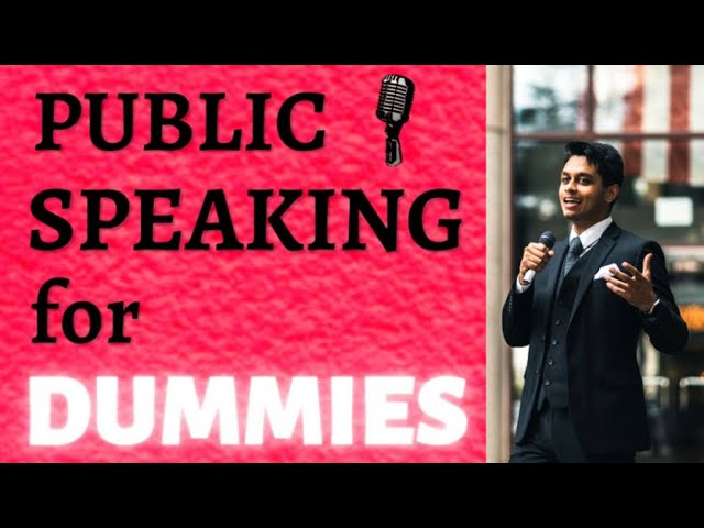 Free Public Speaking Course for Dummies
