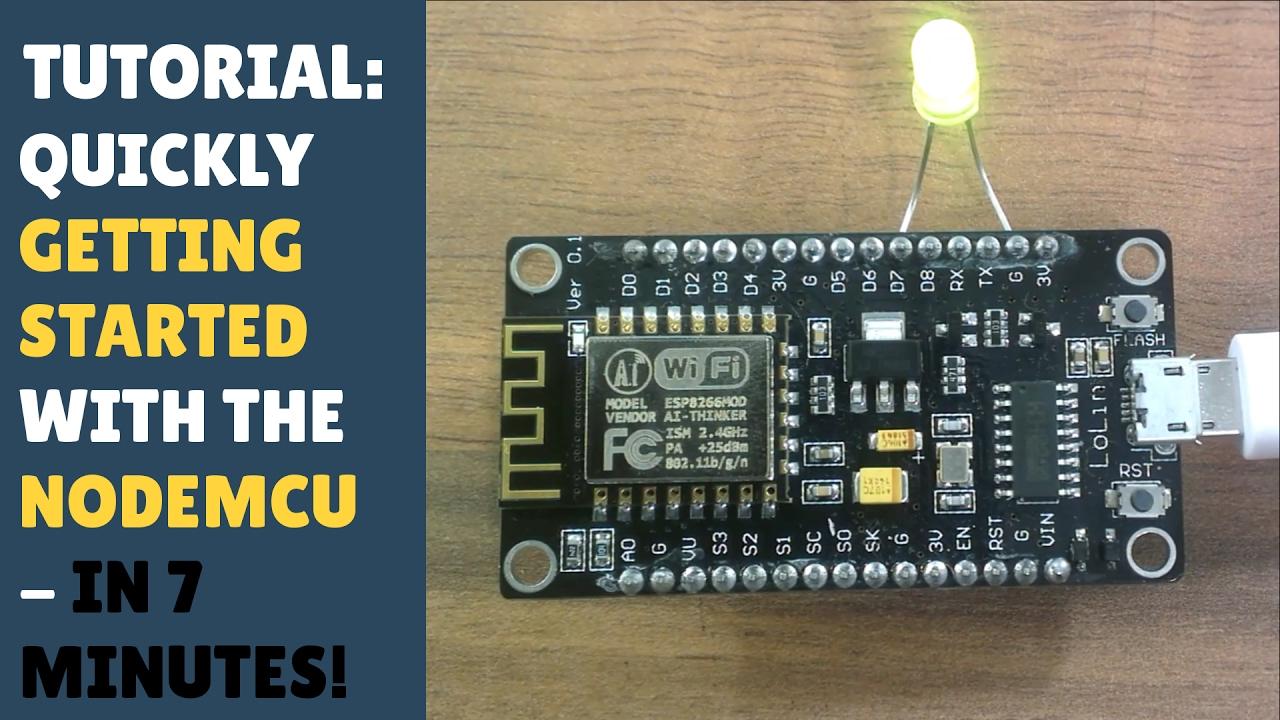 TUTORIAL: Quickly getting started with NodeMCU / ESP8266 12E - In 7 mins!  Beginner Friendly! Arduino