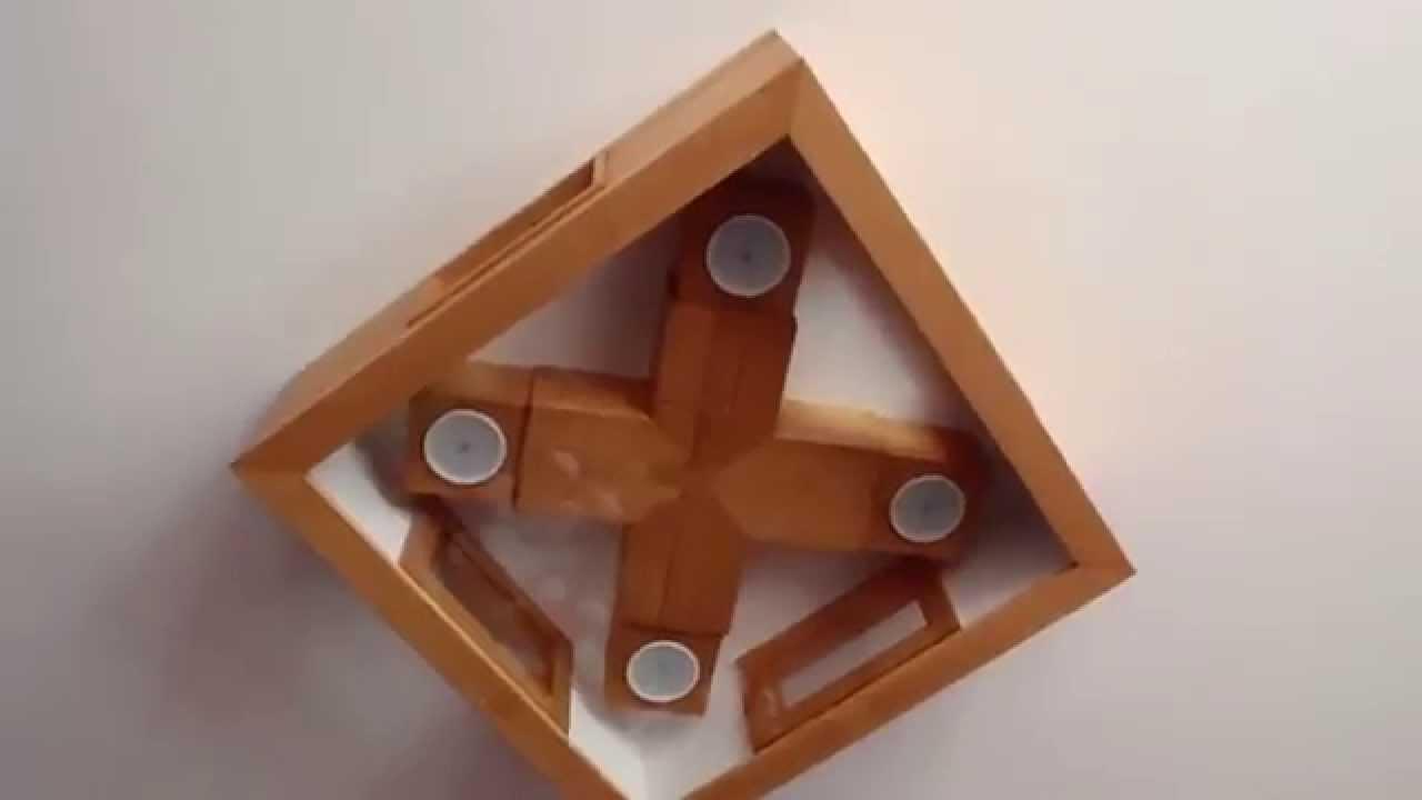 Lampara de techo casera tania youtube - Lamparas de techo ...