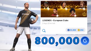 800,000GP LEGENDS - European Clubs Box Draw Opening - Pes 2020 Mobile