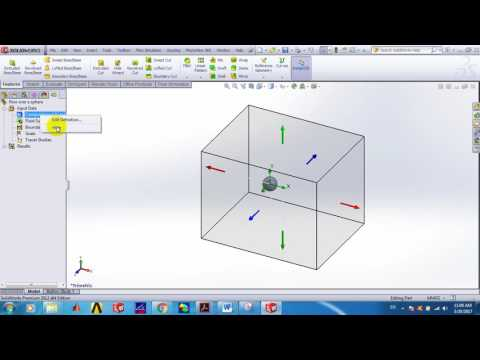SOLIDWORKS Simulation of External Flow over a sphere