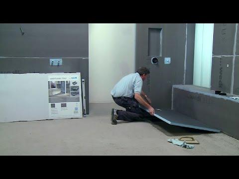 wedi | NL - Training: Inloopdouche Fundo Primo op betonnen vloer ...